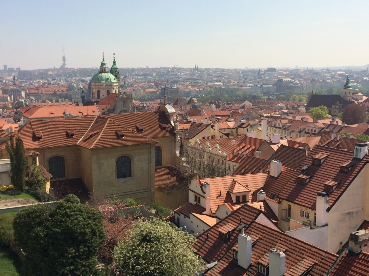 View of the city from Prague castle