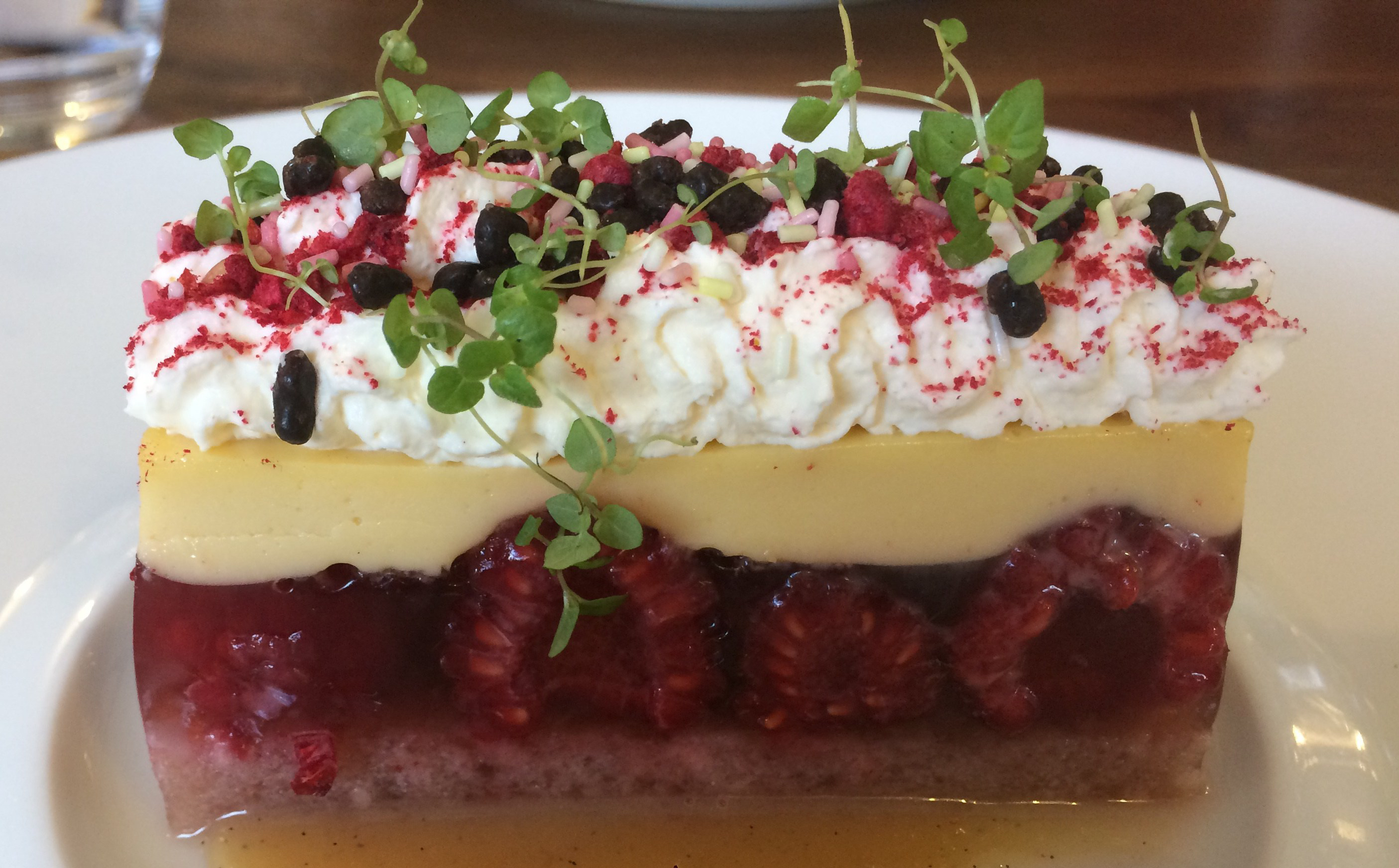 Nanny Bush's trifle at Benedicts fine dining restaurant in Norwich