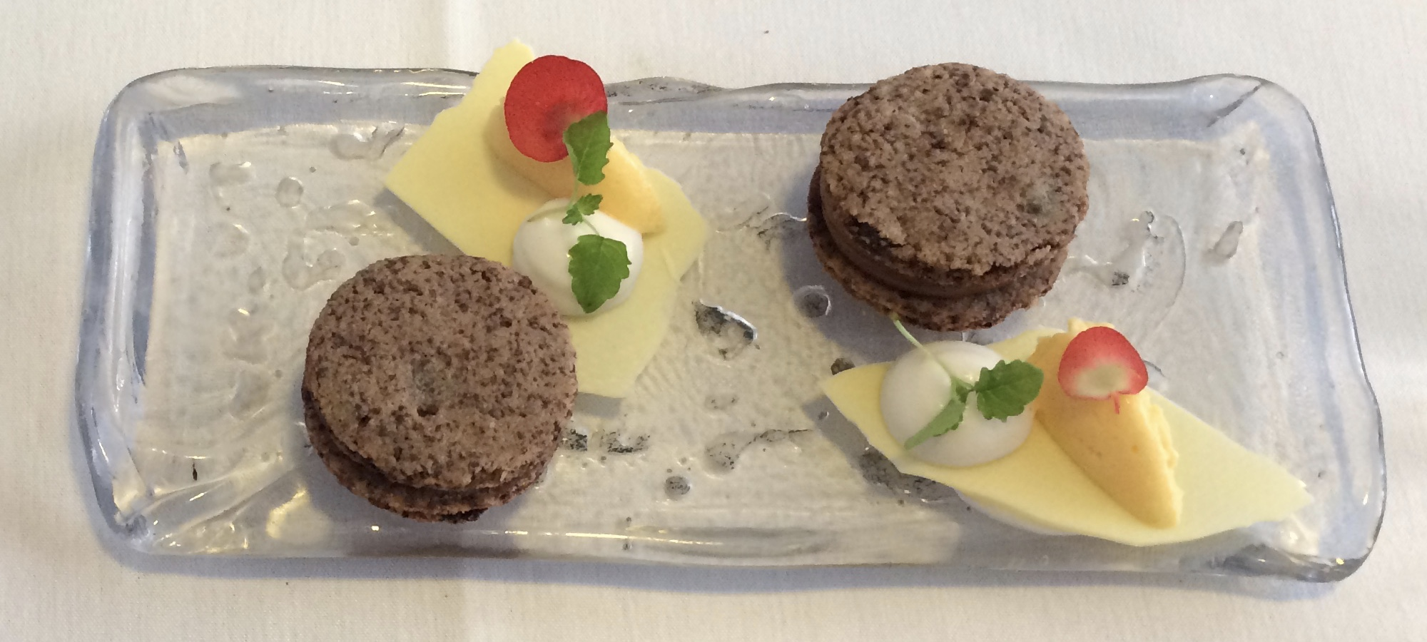 Petit fours at Roger Hickman's fine dining restaurant in Norwich