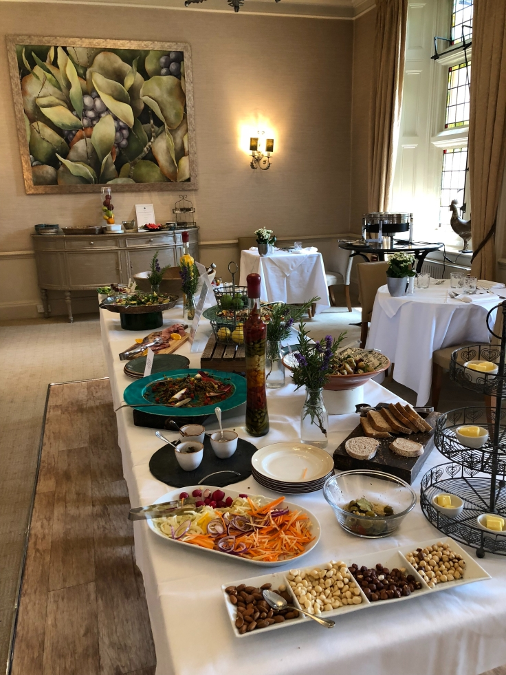 Lunchtime buffet at Grayshott Spa in Surrey - picture from my review