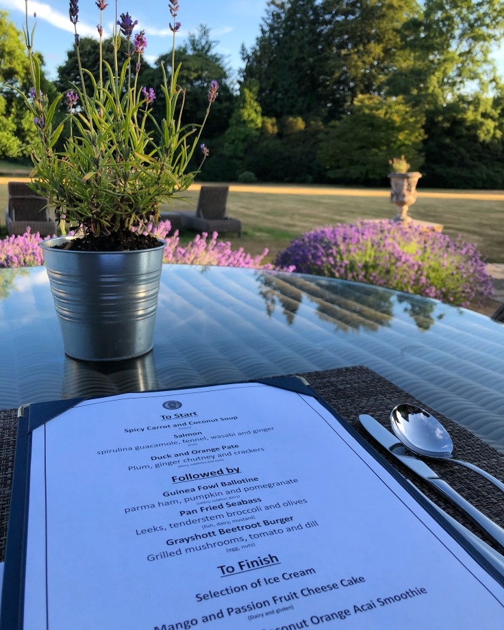 Dining outside at Grayshott Spa in Surrey - picture from my review
