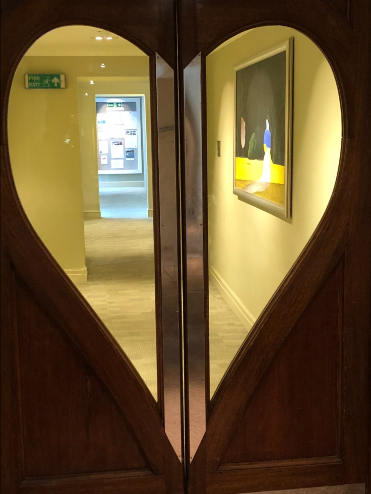 Heart-shaped door at Grayshott Spa in Surrey - picture from my review
